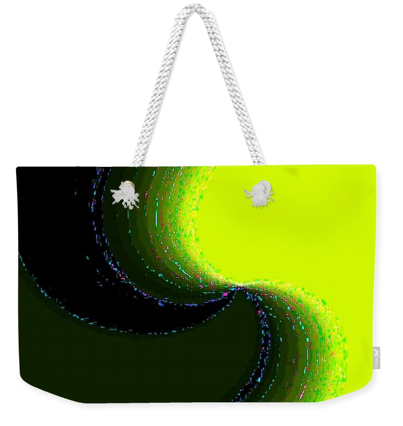 Organic Weekender Tote Bag featuring the digital art Conceptual 5 by Will Borden