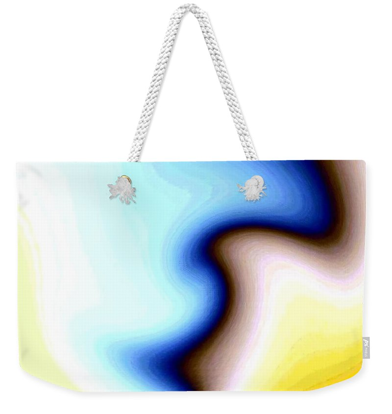 #faceprofileabstract Weekender Tote Bag featuring the digital art Conceptual 7 by Will Borden