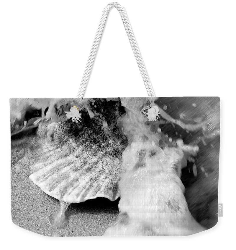 Photo For Sale Weekender Tote Bag featuring the photograph Conch In The Surf by Robert Wilder Jr