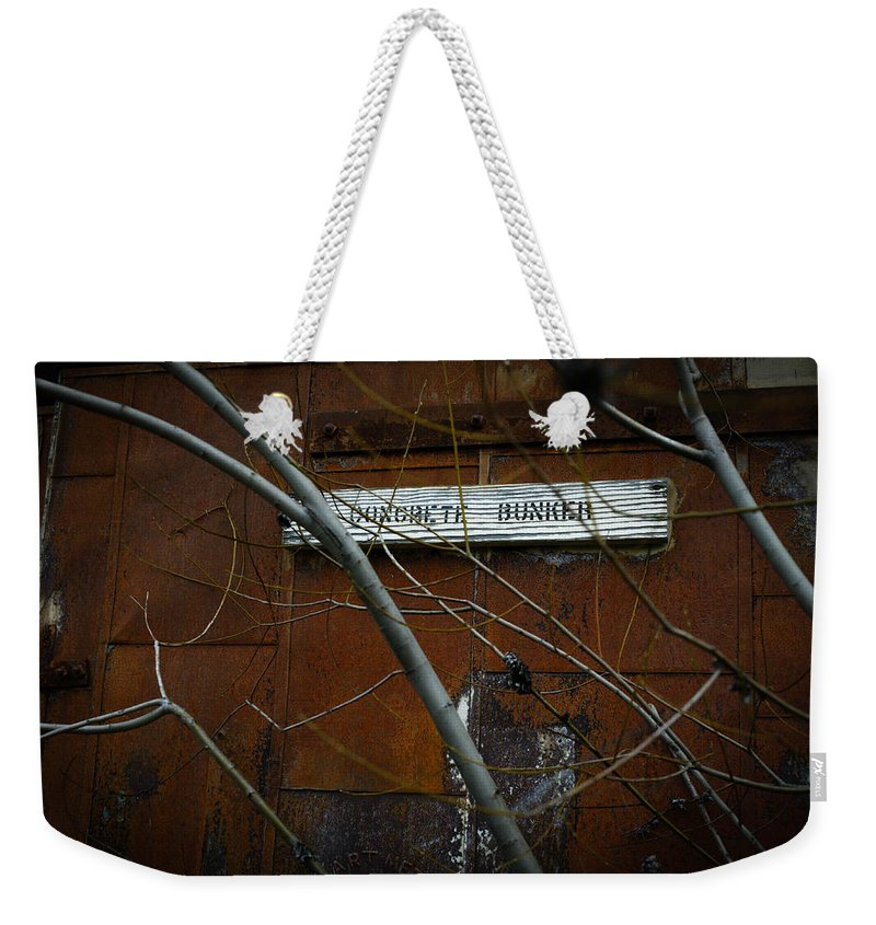 Concrete Weekender Tote Bag featuring the photograph Concrete Bunker by Misty Tienken