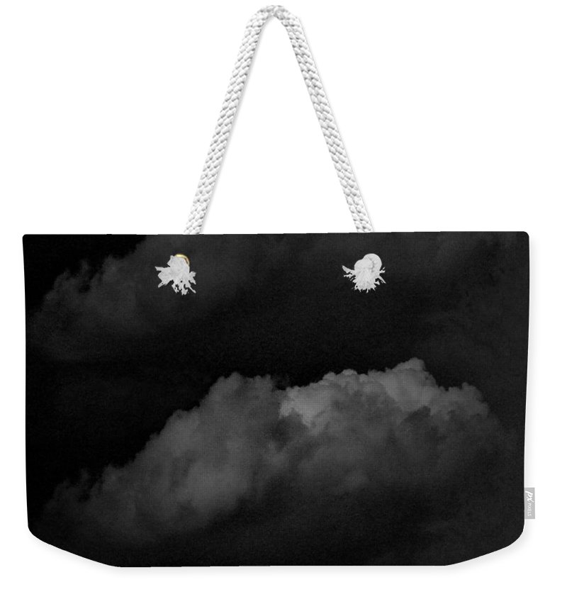 Black Weekender Tote Bag featuring the photograph Condensed Noir by Teodora Bisenic