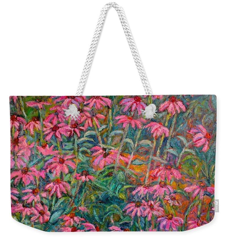 Kendall Kessler Weekender Tote Bag featuring the painting Coneflowers by Kendall Kessler