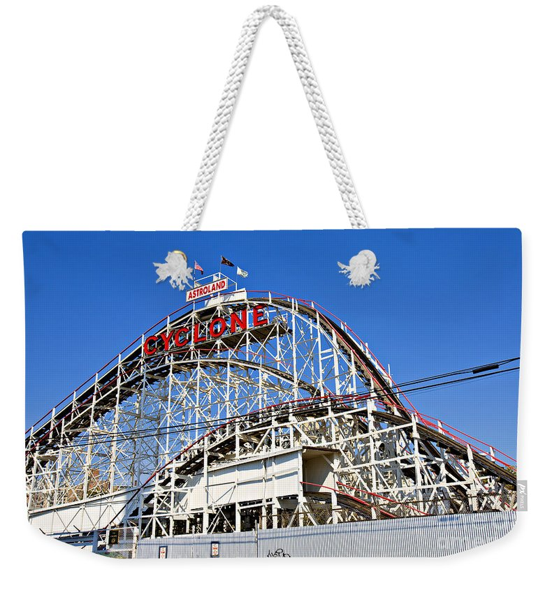 Coney Island Weekender Tote Bag featuring the photograph Coney Island Memories 2 by Madeline Ellis