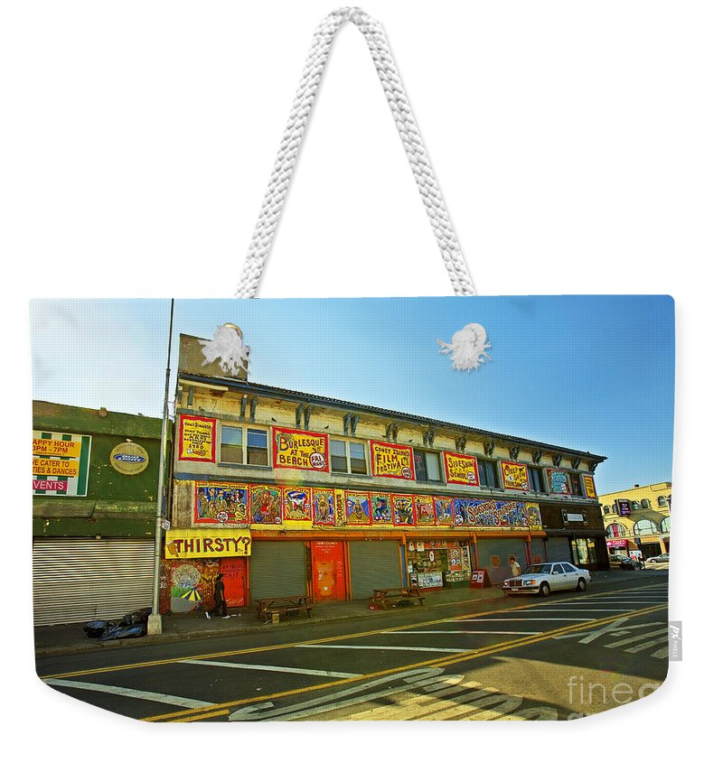 Coney Island Weekender Tote Bag featuring the photograph Coney Island Memories 4 by Madeline Ellis
