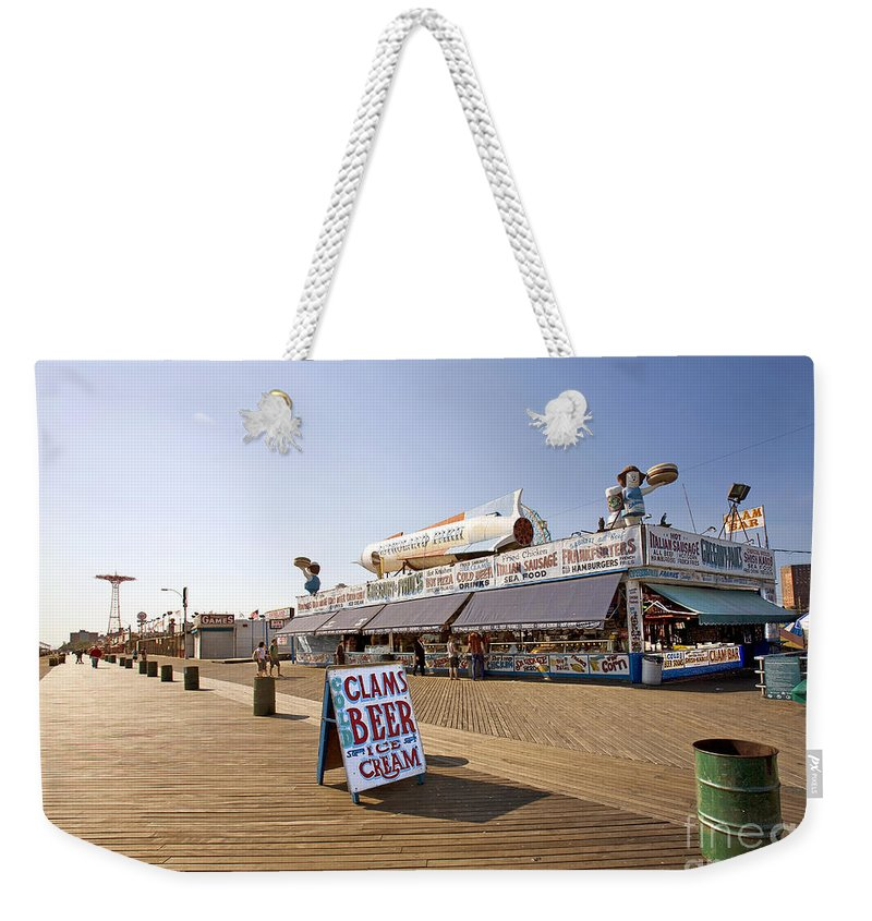 Coney Island Weekender Tote Bag featuring the photograph Coney Island Memories 7 by Madeline Ellis