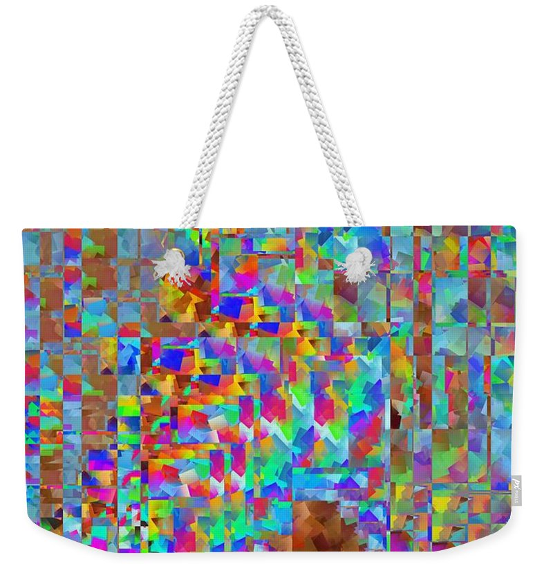 Confetti Weekender Tote Bag featuring the digital art Confetti Cloud by Tim Allen