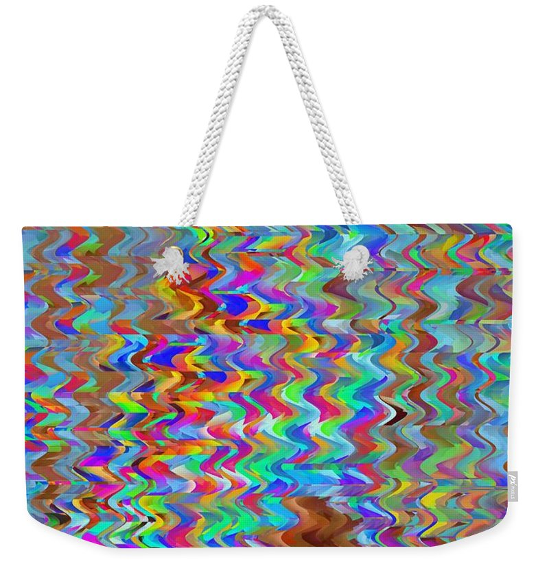 Abstract Weekender Tote Bag featuring the digital art Confetti On The Fly by Tim Allen