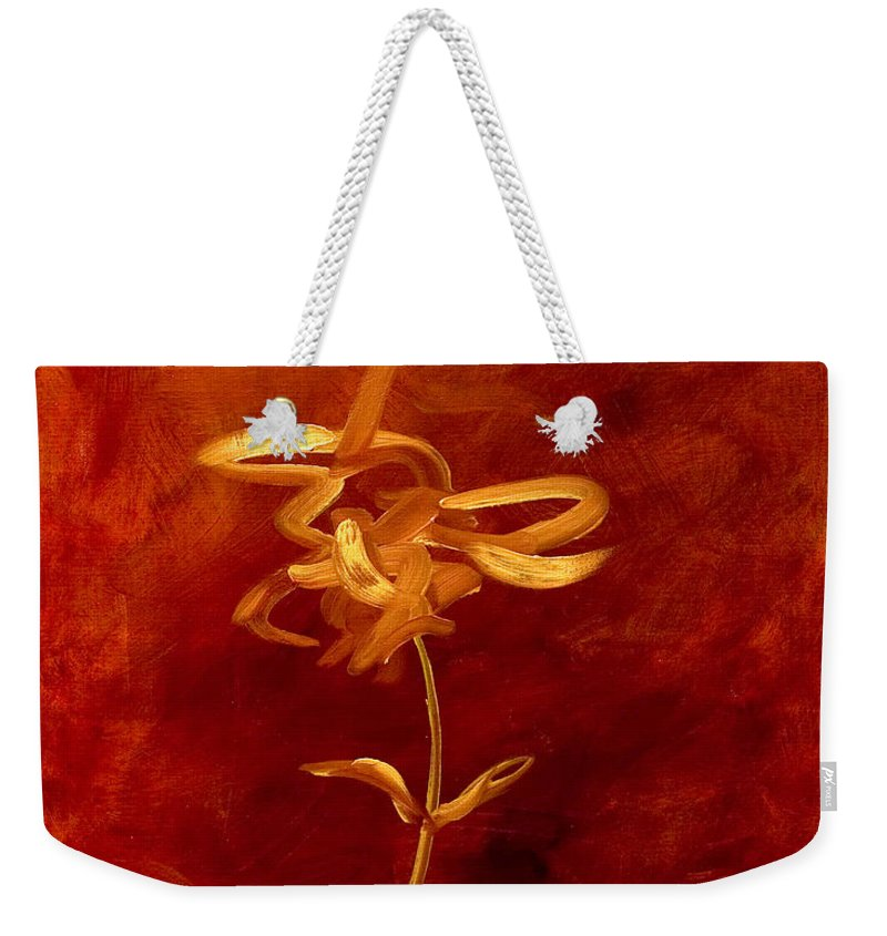 Abstract Weekender Tote Bag featuring the painting Confidence by Shannon Grissom