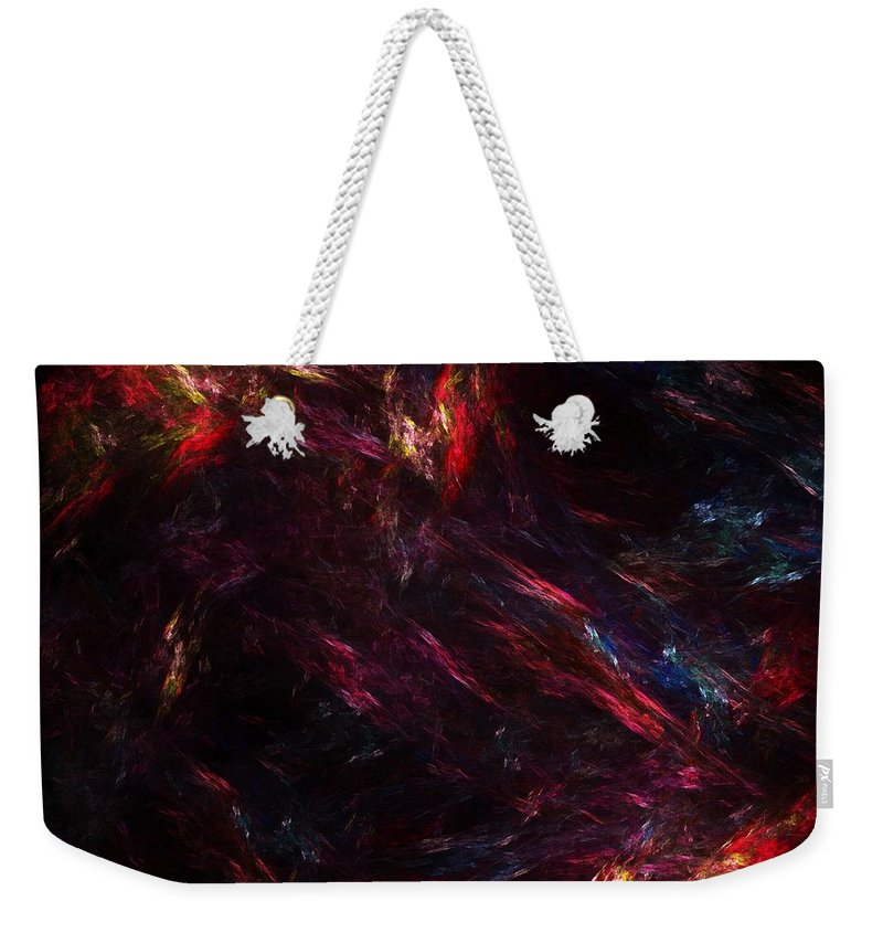 Abstract Digital Painting Weekender Tote Bag featuring the digital art Conflict by David Lane