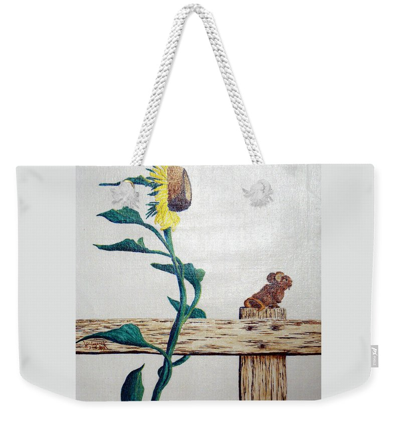 Still Life Weekender Tote Bag featuring the painting Confluence by A Robert Malcom