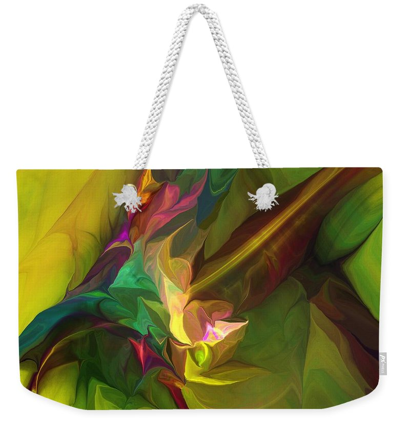 Fine Art Weekender Tote Bag featuring the digital art Confluence by David Lane
