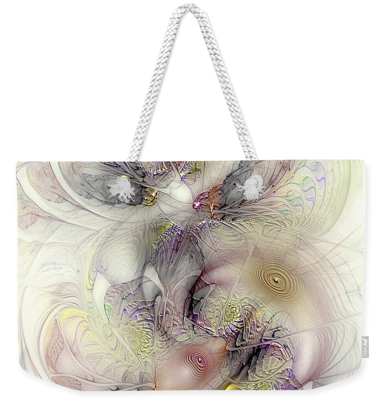 Abstract Weekender Tote Bag featuring the digital art Confounded Paradox by Casey Kotas