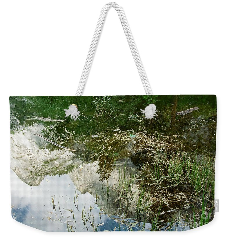 Mirror Lake Weekender Tote Bag featuring the photograph Confusion by Kathy McClure