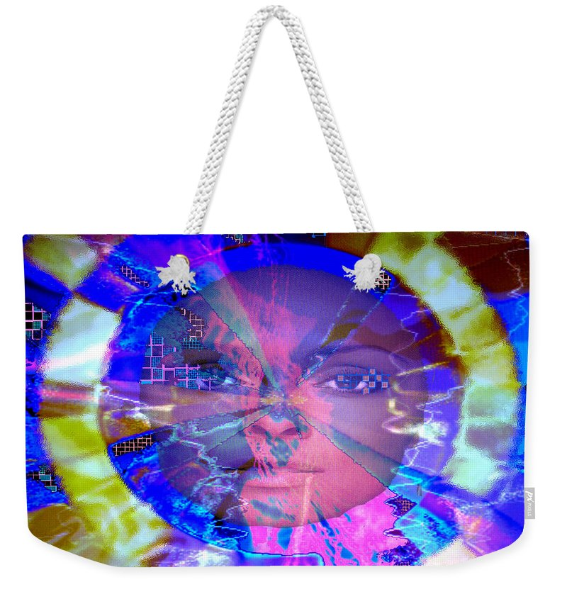 Congo Weekender Tote Bag featuring the photograph Congo Queen Mandala by Seth Weaver