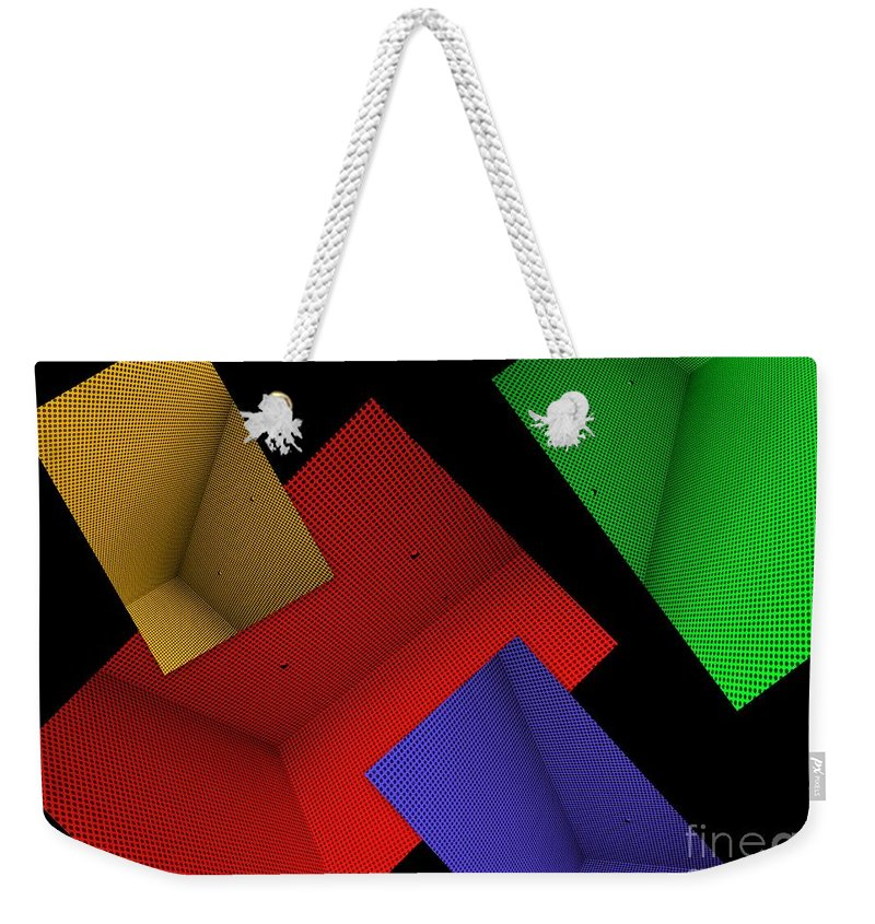 Abstract Weekender Tote Bag featuring the photograph Connect Or Disconnect by Carol Groenen
