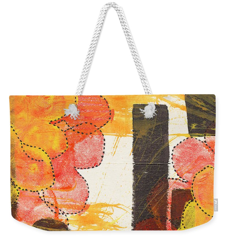 Body Prints Painting Weekender Tote Bag featuring the painting Connect The Dots by April Kasper