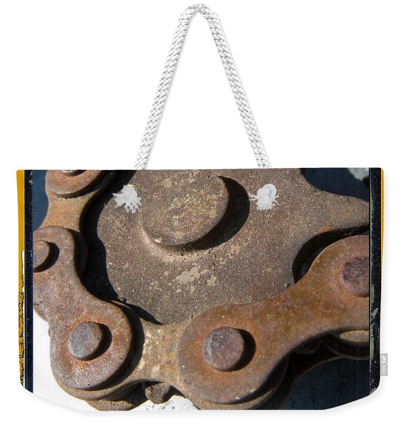 Chain Weekender Tote Bag featuring the photograph Connected by Jeffery Ball