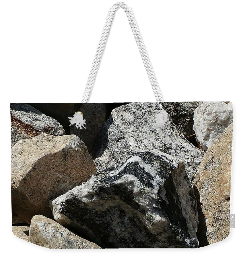 River Weekender Tote Bag featuring the photograph Connecticut Stones by Wolfgang Schweizer