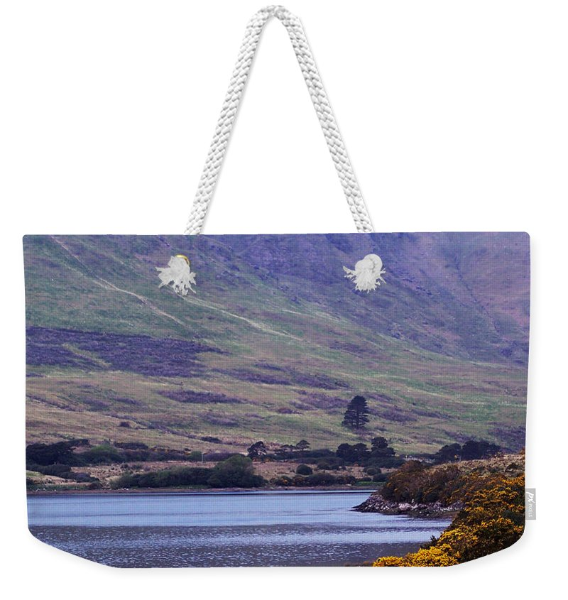 Landscape Weekender Tote Bag featuring the photograph Connemara Leenane Ireland by Teresa Mucha