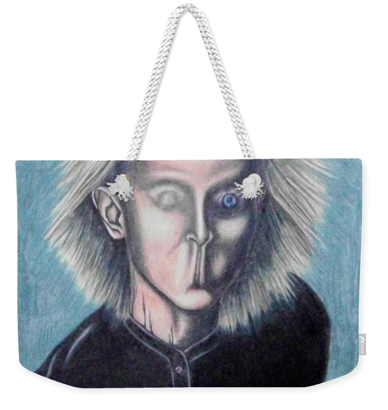 Tmad Weekender Tote Bag featuring the drawing Consciousness by Michael TMAD Finney