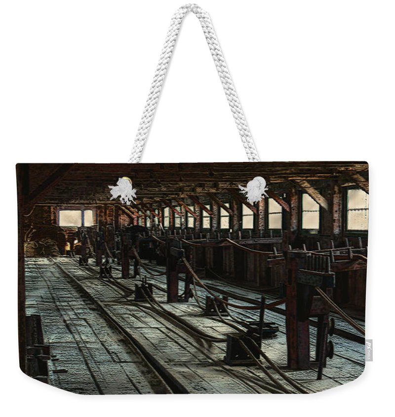 Historical Weekender Tote Bag featuring the painting Consigned To Hell by RC DeWinter
