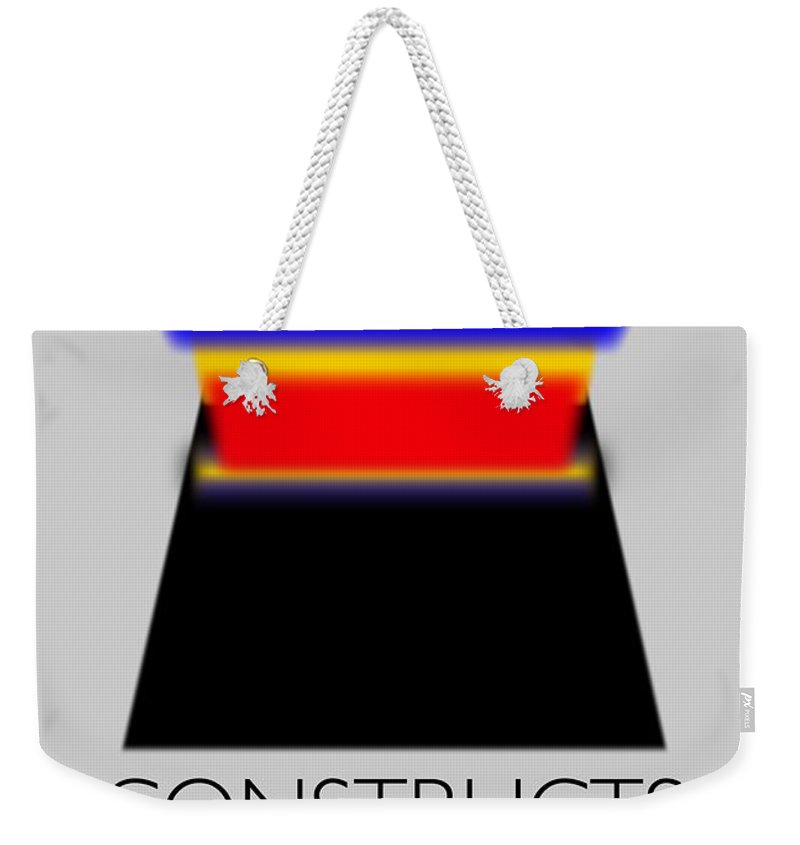 De Stijl Weekender Tote Bag featuring the painting Constuctivist Poster by Charles Stuart