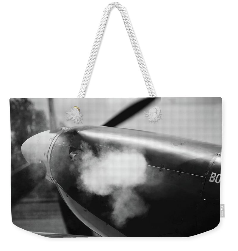 Supermarine Spitfire Tr Ix Weekender Tote Bag featuring the photograph Contact by Robert Phelan