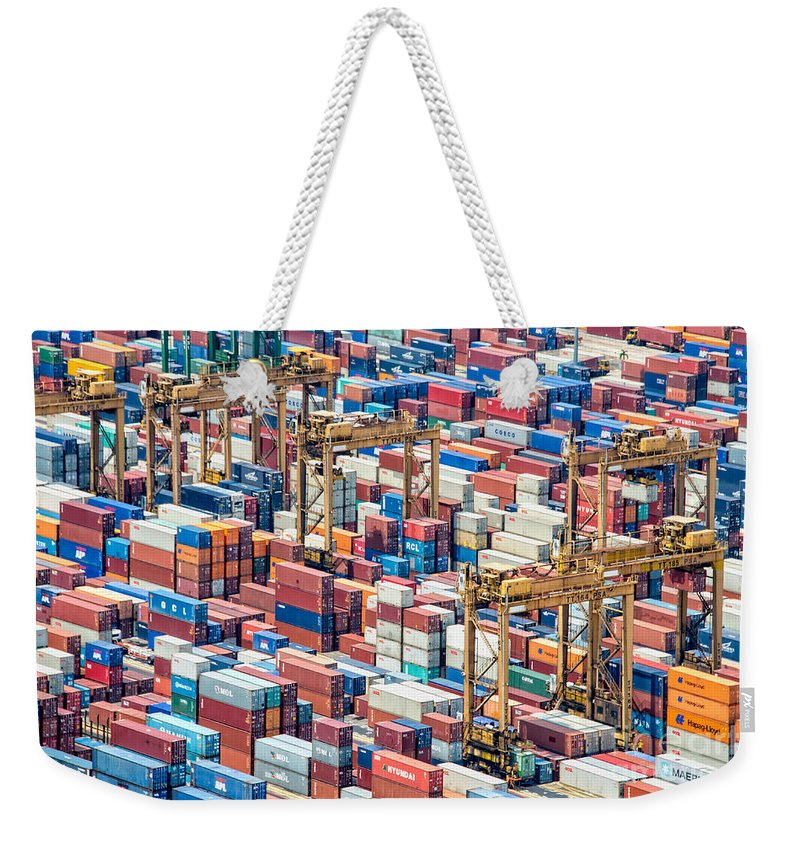 Shipping Container Weekender Tote Bags