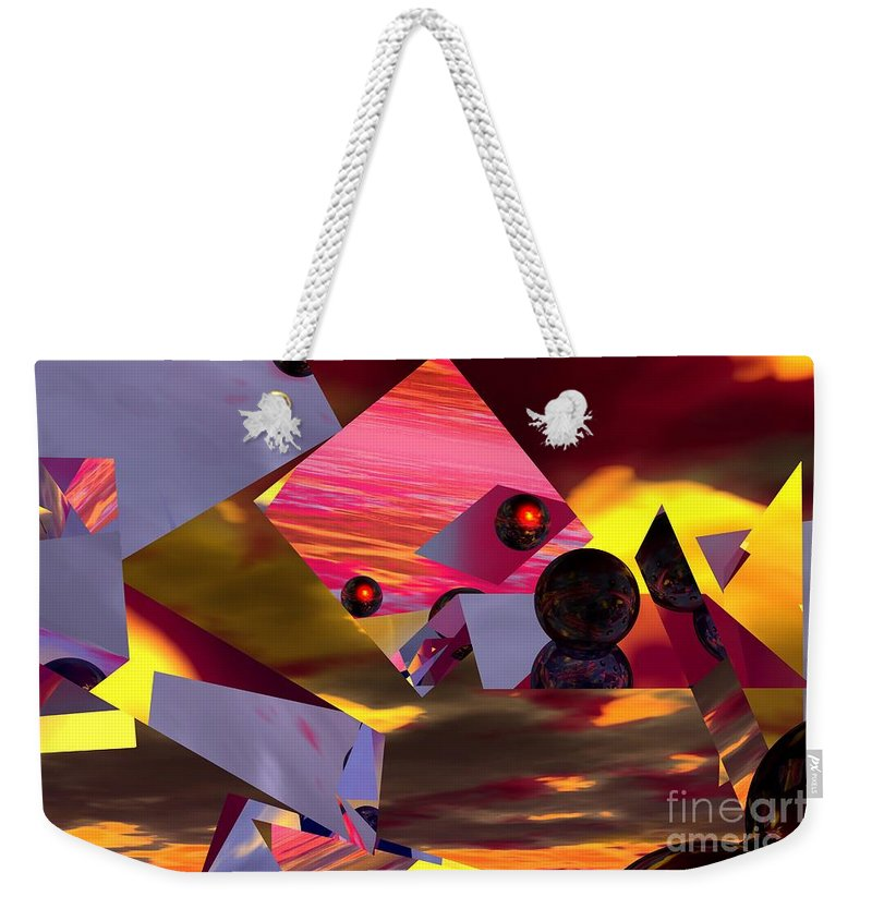 Weekender Tote Bag featuring the digital art Contemplating The Multiverse. by David Lane