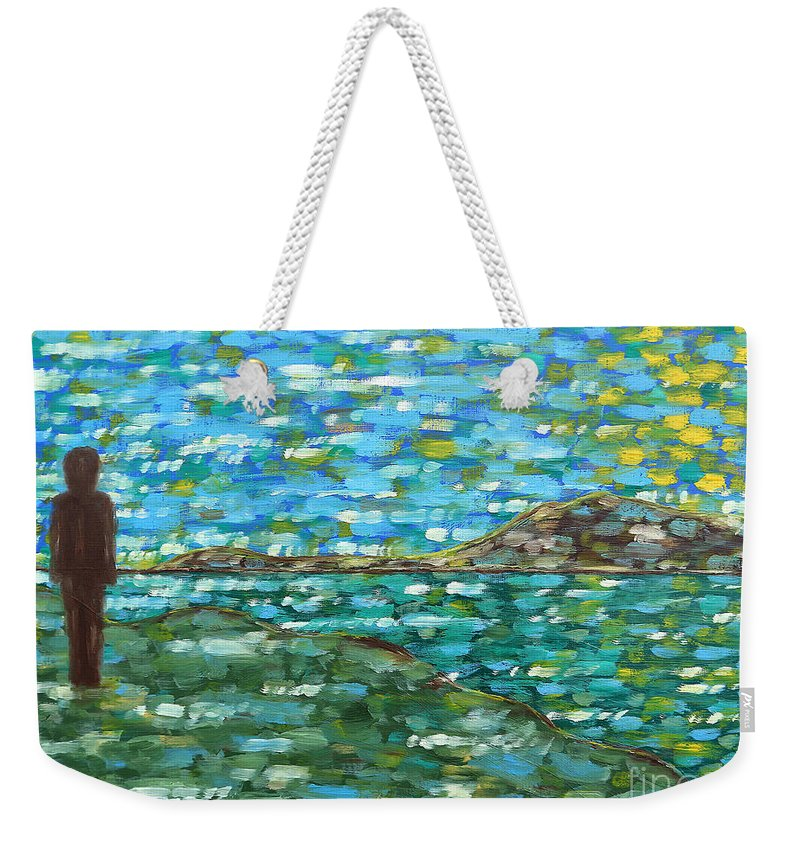 Landscapes Weekender Tote Bag featuring the painting Contemplation 2 by Patrick J Murphy