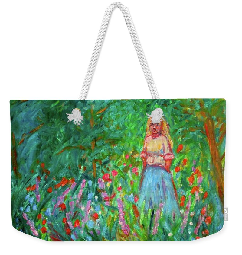 Landscape Weekender Tote Bag featuring the painting Contemplation by Kendall Kessler