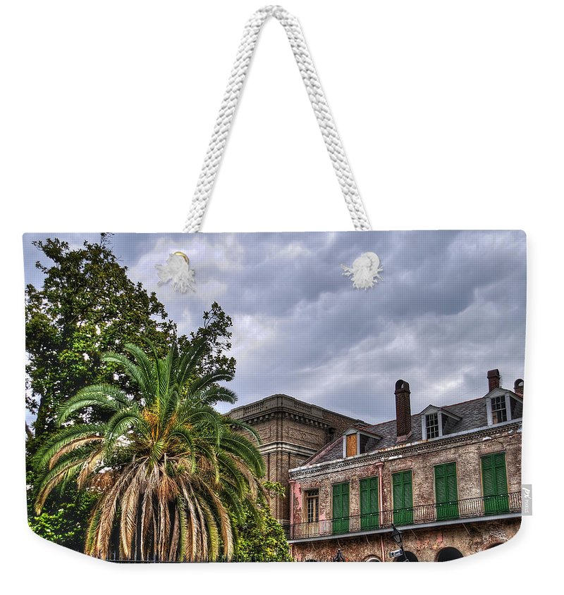 Nola Weekender Tote Bag featuring the photograph Conti Street by Tammy Wetzel