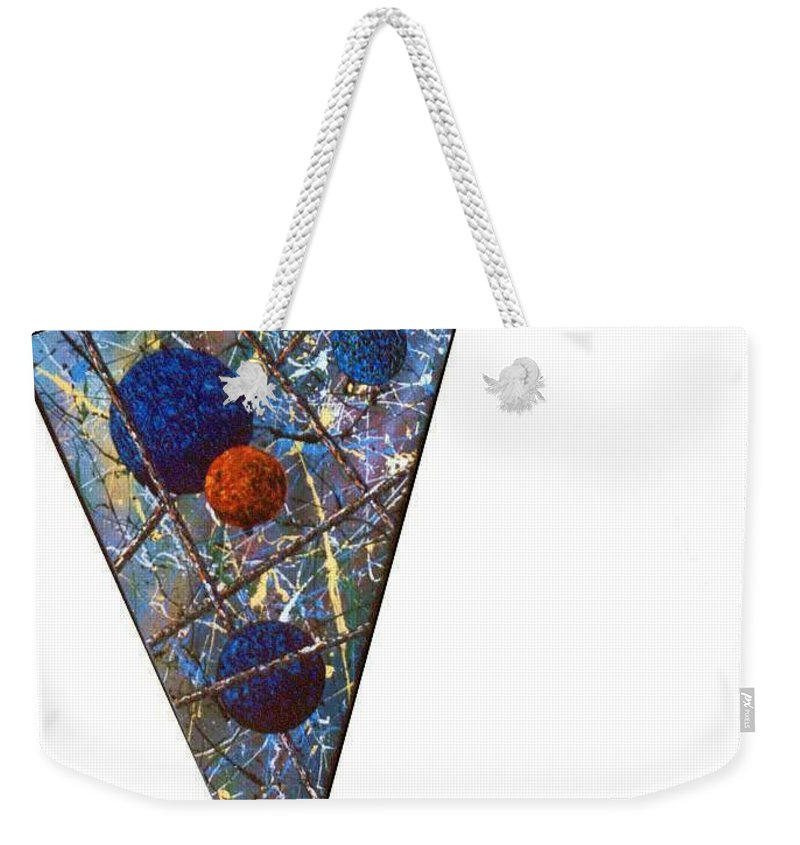 Abstract Weekender Tote Bag featuring the painting Continuum 3 by Micah Guenther