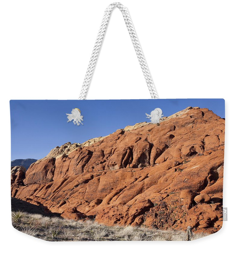 Rocks Weekender Tote Bag featuring the photograph Contrast by Kelley King
