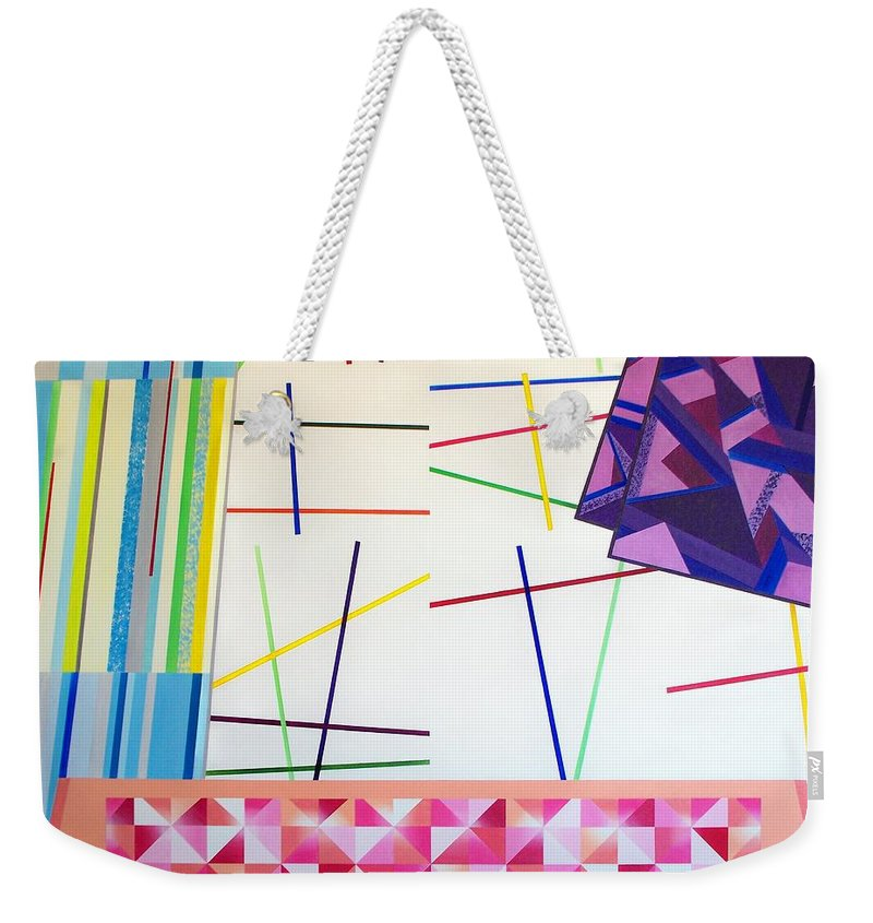 Art Weekender Tote Bag featuring the painting Controlled Chaos by RB McGrath