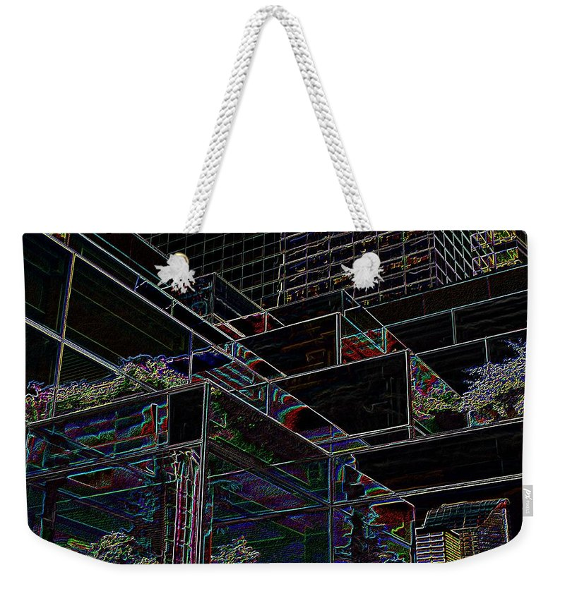 Seattle Weekender Tote Bag featuring the photograph Convention Center by Tim Allen