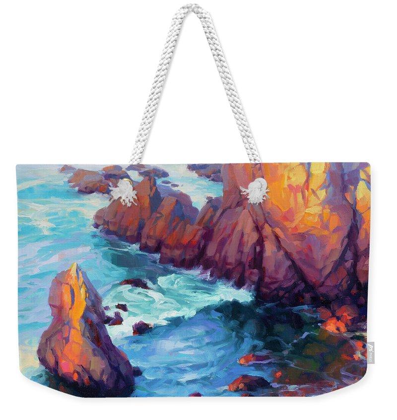 Ocean Weekender Tote Bag featuring the painting Convergence by Steve Henderson