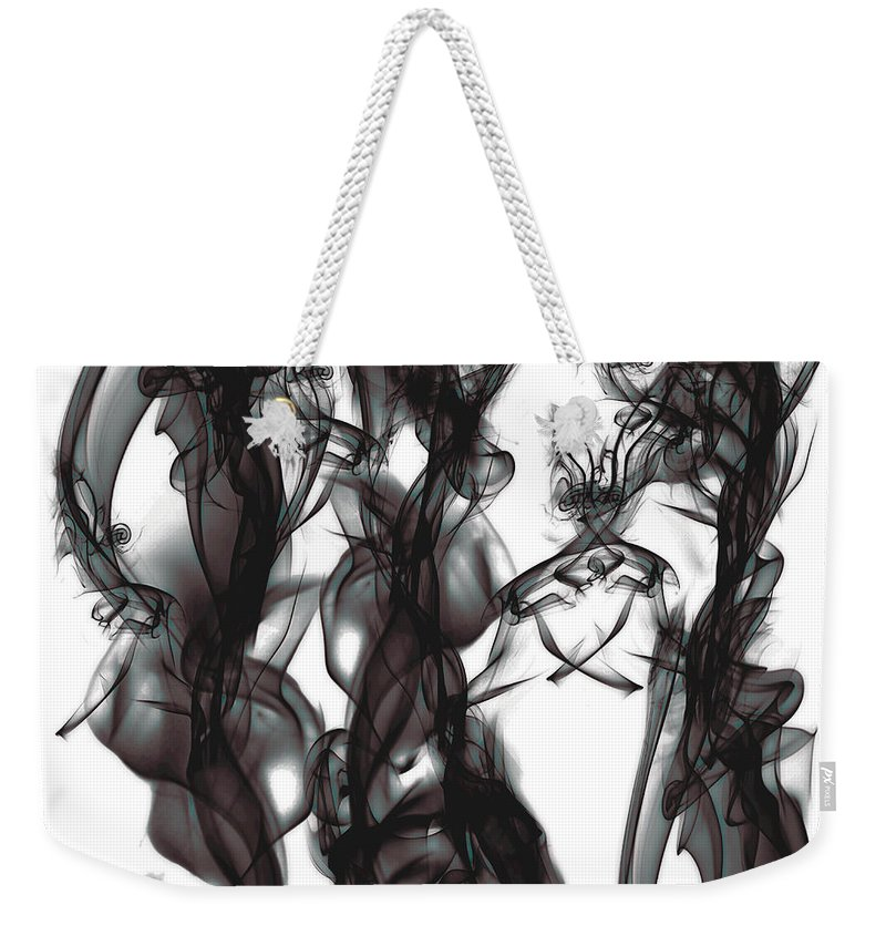 Clay Weekender Tote Bag featuring the digital art Conversations by Clayton Bruster