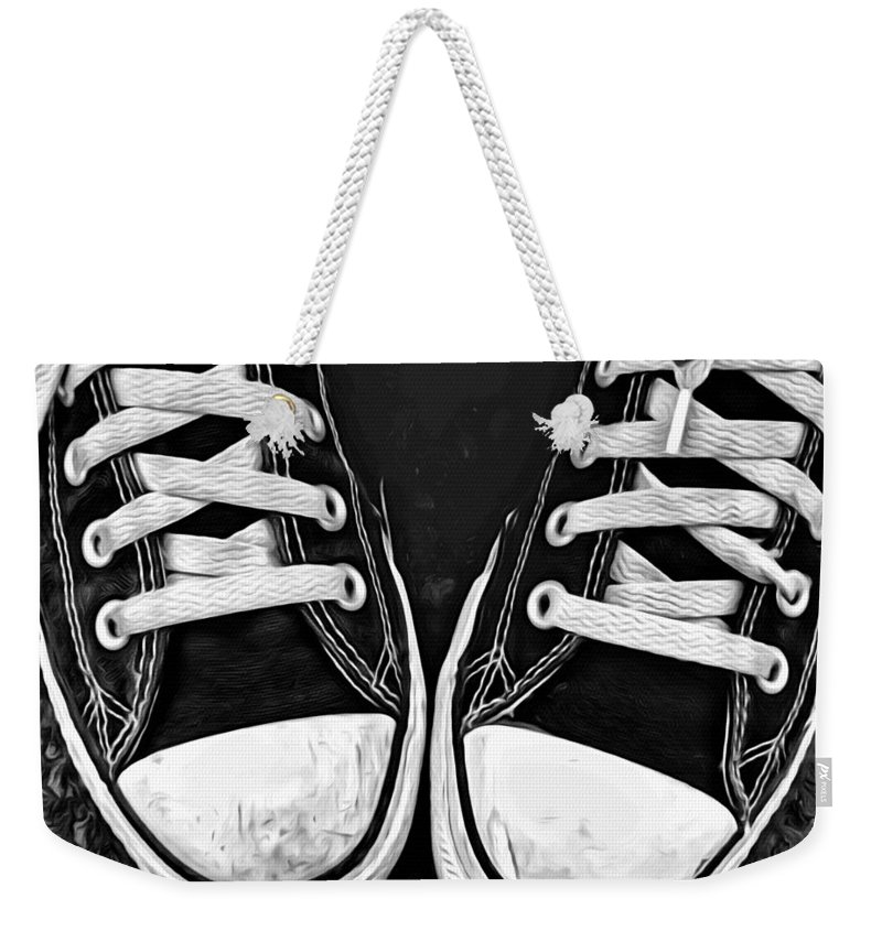Converse Weekender Tote Bag featuring the photograph Converse 1 by Modern Art