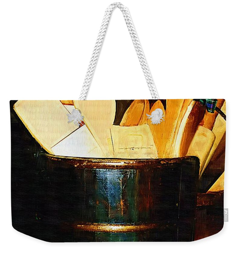 Bucket Weekender Tote Bag featuring the painting Cooking Retro by RC DeWinter