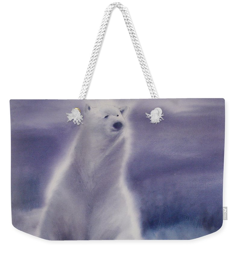 Bear Weekender Tote Bag featuring the painting Cool Bear by Allison Ashton