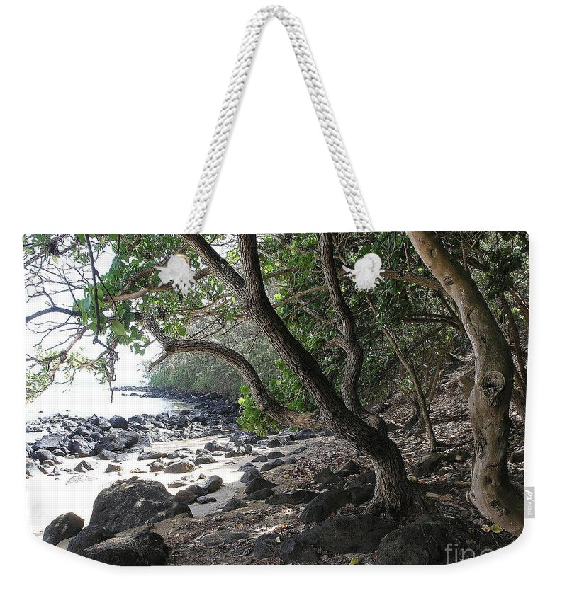 Ocean Weekender Tote Bag featuring the photograph Cool Spot by Mary Deal