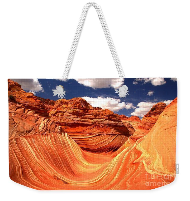 The Wave Weekender Tote Bag featuring the photograph Cool Spring Day At The Wave by Adam Jewell