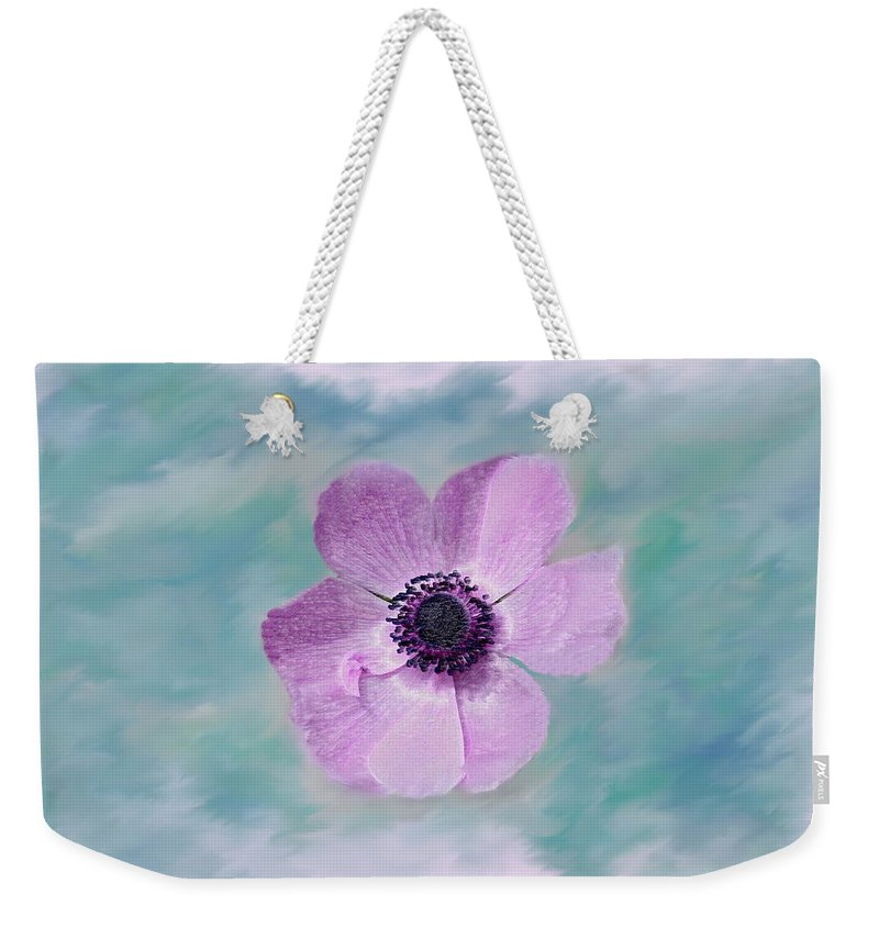 Flowers Floral Macro Nature Gardens Pink Purple Blue Green White Petals Spring Flowers Weekender Tote Bag featuring the photograph Cool Spring by Linda Sannuti