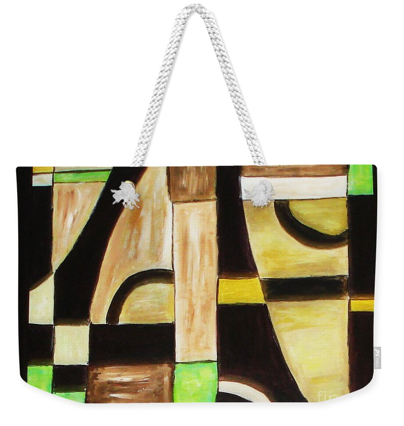 Acrylic Painting Weekender Tote Bag featuring the painting Cool by Yael VanGruber