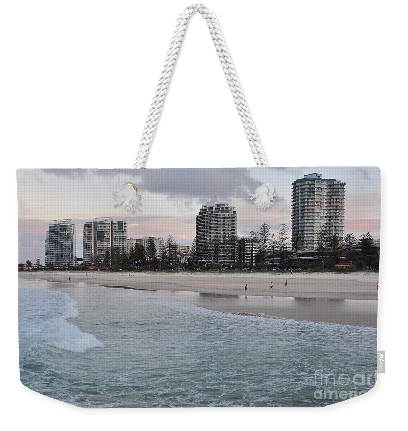 Gold Coast Weekender Tote Bag featuring the photograph Coolangatta Sunset by Csilla Florida