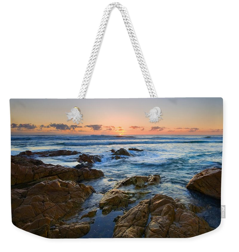 Seascape Weekender Tote Bag featuring the photograph Coolum Dawn by Mike Dawson