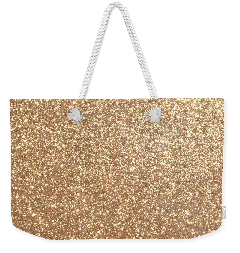 a68a62da3 Copper Weekender Tote Bag featuring the digital art Copper Rose Gold  Metallic Glitter by Pod Artist