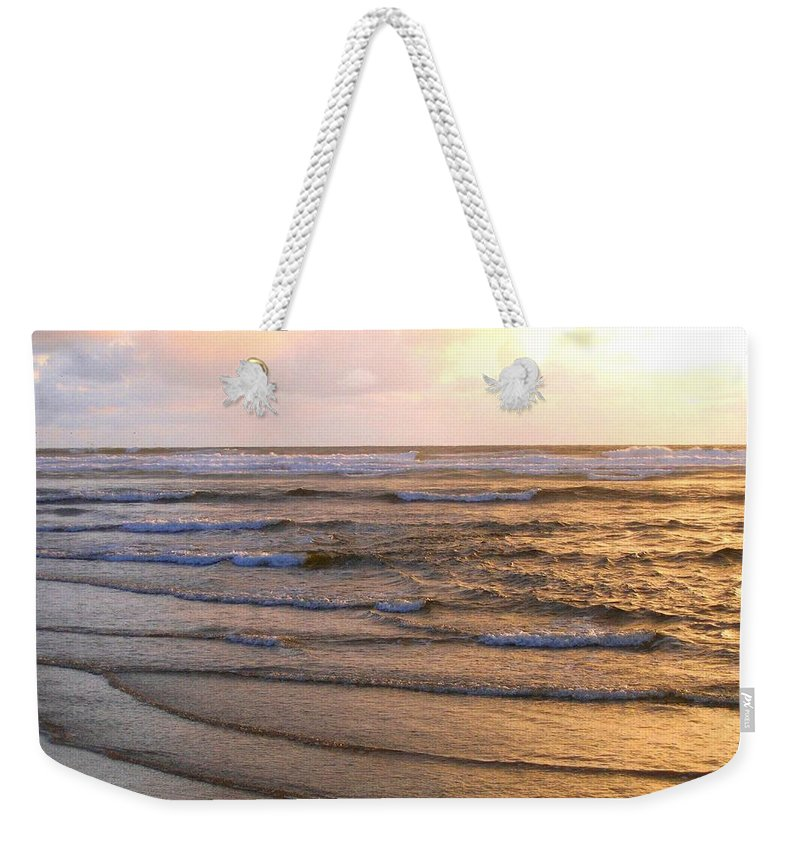 Sunset Weekender Tote Bag featuring the photograph Copper Shores by Will Borden