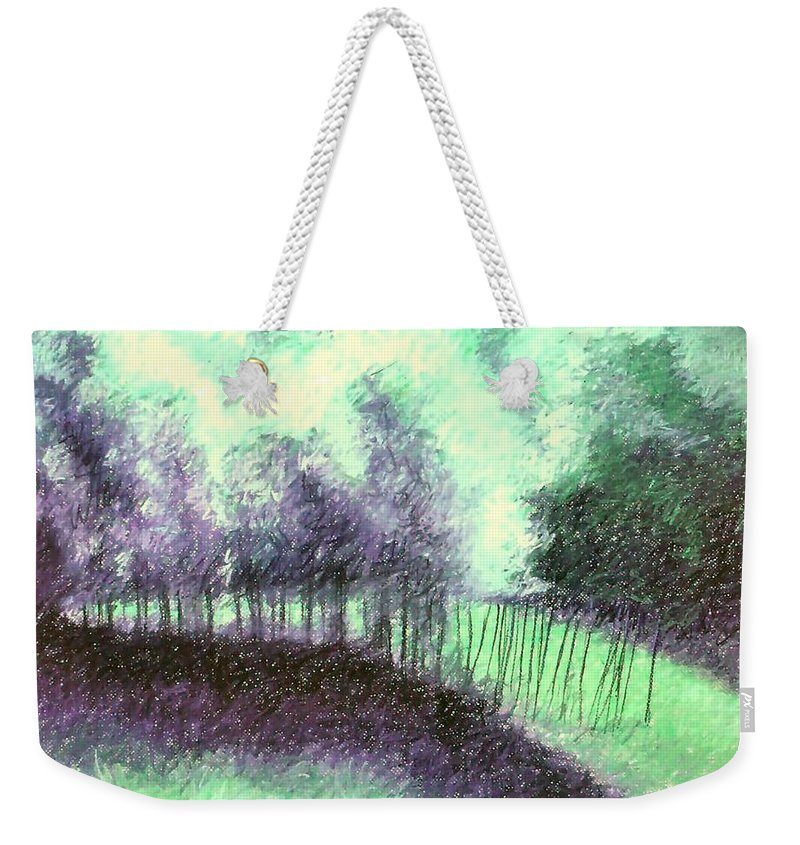 Landscape Weekender Tote Bag featuring the painting Copse by Mary McInnis